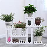 Solid wood creative floor pots shelf wooden bonsai frame