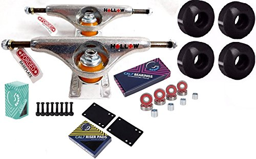 Independent 149 Forged Hollow Silver Skateboard Trucks 52MM Wheels Combo (Independent Stage 10 Trucks)