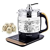 Kitchen & Housewares : Electric Water Kettle Multifunctional Cordless Glass Liquid Heater [Boil Water, Coffee, Make Tea, Cook Egg, Baby Milk, Keep Warm, Make Yogurt, Porridge, Hot Pot, Stew Soup, Disinfection & etc] 1.8 L