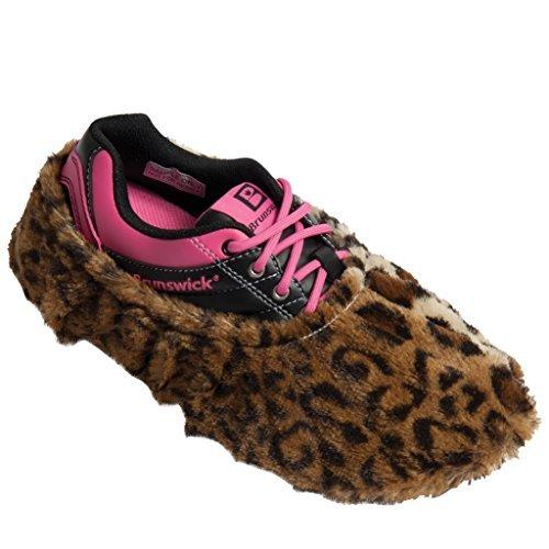 Brunswick Fun Shoe Covers- Fuzzy Leopard by Brunswick Bowling Products