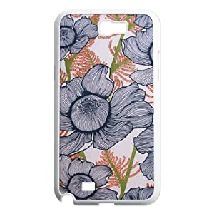 Pink Floral Customized Cover Case for Samsung Galaxy Note 2 N7100,custom phone case ygtg570401