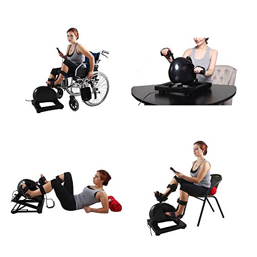 Konliking Physical Therapy Rehabilitation Pedal Exerciser Indoor Electric Bike Doing Training Home When Lying Down in Bed 180W for Adults Passive Assist Disabled Stroke Best Health Recovery Equipment