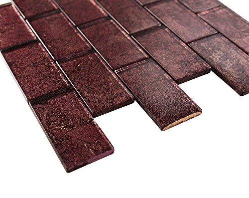 ed Velvet Sky Subway Glass Mosaic Tiles for Bathroom and Kitchen Walls Kitchen Backsplashes ()