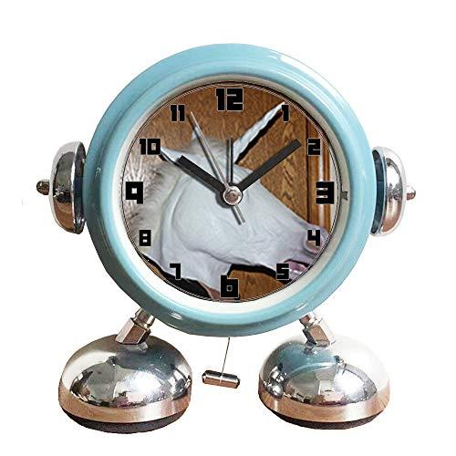 (GIRLSIGHT1 Non-Ticking Cool Metal Robot Alarm Clock Wake-up Clock with Cute Animal-480.Unicorn, Mask, Animal, Masked, Face, Costume,)