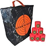 Target Pouch Storage Carry Equipment Bag Accessories Set with 6Pcs Foam Shooting Targets for Nerf N-Strike Elite, Mega, and Rival Series Guns by Fury Strike