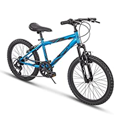 Only from Huffy, and only at Amazon! The 20-inch Huffy Summit Ridge has 6 speeds and an aggressive design that looks fierce in metallic cyan blue gloss. Backed by our limited lifetime warranty (see owner's manual for details), the hi-ten stee...