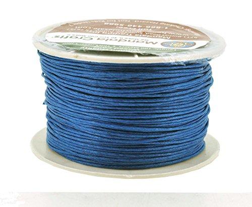 Mandala Crafts 1mm 109 Yards Jewelry Making Crafting Beading Macram Waxed Cotton Cord Thread (Sapphire Blue)