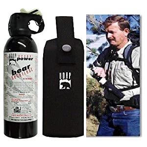 13.4oz 380g Super Magnum Bear Spray with Chest holster