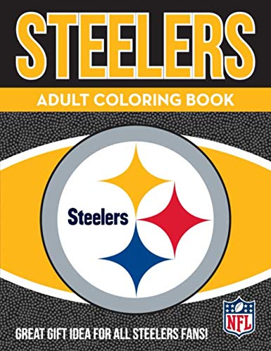 NFL Pittsburgh Steelers Adult Coloring Booknfl Adult Coloring Book, Yellow, Black, 96 Coloring Pages