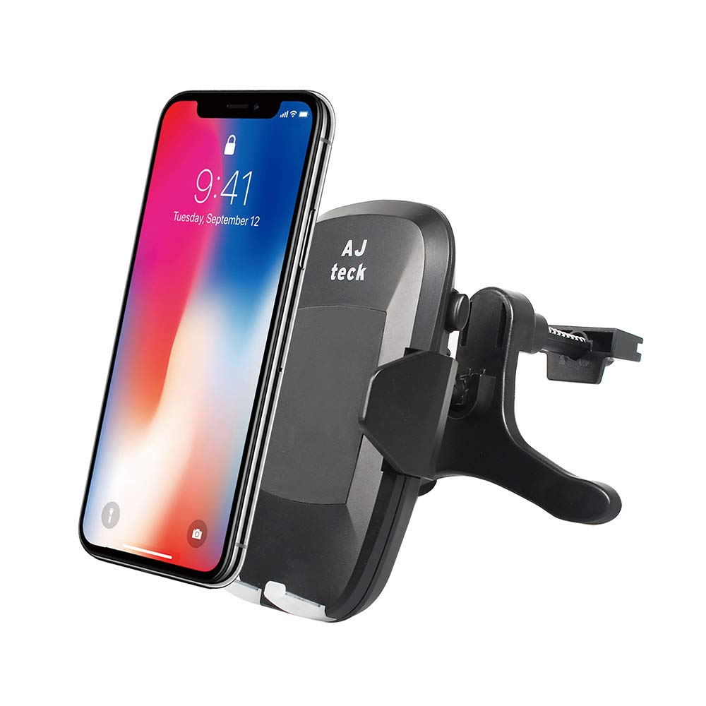AJteck Qi Wireless Charger, Wireless Car Charger with Car Mount 10W Fast Charge for Samsung Galaxy S9 S9 Plus S8 S7/S7 Edge Note 8, Standard Charge for Qi Enabled Devices by AJteck