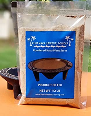 Kava Kava - Fiji Kava - Lewena (Kava Stem Powder) 1/2 Pound (8oz) - Fiji Market Wholesale