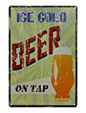 beer wall vinyl - VASTING ART Decorative Signs Tin Metal Iron Painting for Home Office Bar Coffee Shop Wall-Cold Beer