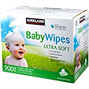 Kirkland Baby Wipes Unscented 900ct