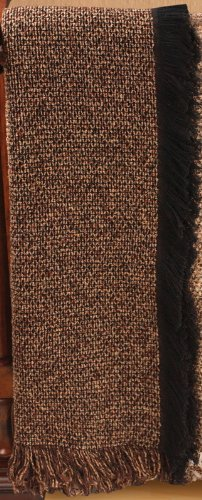 "Brown Nutmeg Cobblestone Solid Woven Tapestry Throw Blanket 50"" x 60"""