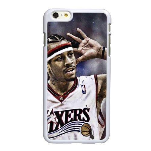 D2T61 Allen Iverson L5Q6UO coque iPhone 6 Plus de 5,5 pouces cas de couverture de téléphone portable coque blanche SE3IWR1VQ