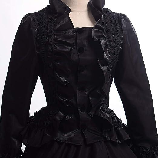GRACEART Victoriana Vestido Delgado botón de Encaje Vestido ...