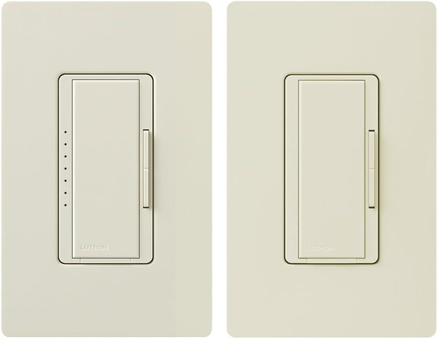 Lutron Maestro LED+ Digital Dimmer Kit for Dimmable LED, Halogen and Incandesent Bulbs | 150-Watt, Multi-Location | MACL-153M-RHW-LA | Light Almond