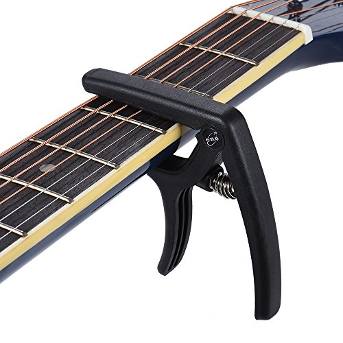eno-EGC3-Lightweight-Quick-Change-Capo-Clamp-Plastic-Steel-for-Acoustic-Classical-Folk-Electric-Guitar-Bass-Black