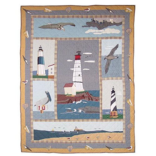 Patch Magic 50-Inch by 60-Inch Lighthouse by Bay Throw