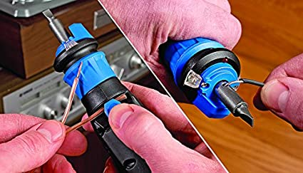 HAMMERHEAD HCSD040-02 4V Lithium Rechargeable Screwdriver with Patented Circuit Sensor Technology /& 9Piece Bit Kit