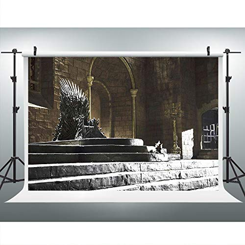 Iron Throne Castle Photography Backdrop for GOT Fans Party, 9x6FT, TV Series Party Indoor Background, Photo Booth Studio Props LHLU352