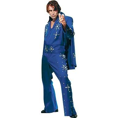 Menu0027s Blue XXL Elvis Costume  sc 1 st  Amazon.com & Amazon.com: Menu0027s Blue XXL Elvis Costume: Clothing
