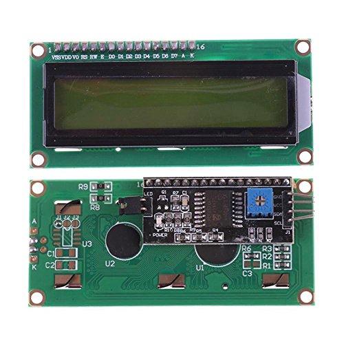 Semoic IIC//I2C//TWI Serial Interface 1602 16X2 Character Yellow LCD Module Display