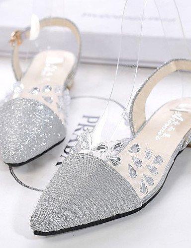 ShangYi Womens Shoes Flat Heel Flip Flops/Comfort Sandals Outdoor/Office & Career/Dress Black/Brown/White golden