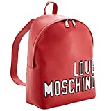 LOVE MOSCHINO Pixel Logo Backpack, Red