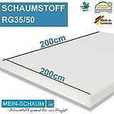 Schaumstoff Schaumstoffplatte Polster Matratze PUR RG35 SH50 200 x 200 x 2cm
