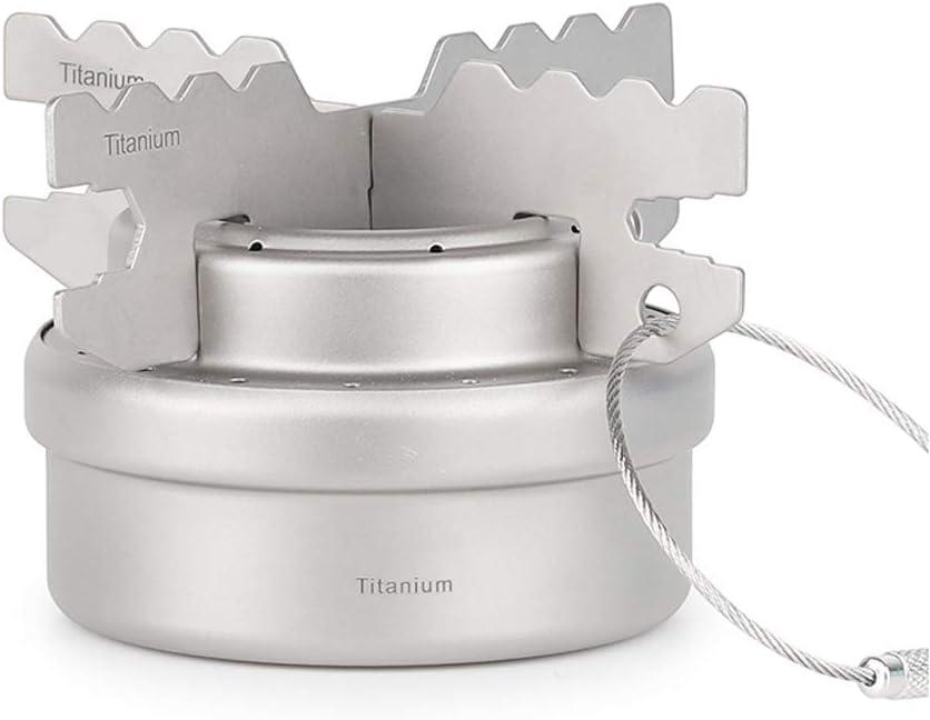 Mini Estufa de Alcohol Ultraportable de Titanio con Soporte del ...