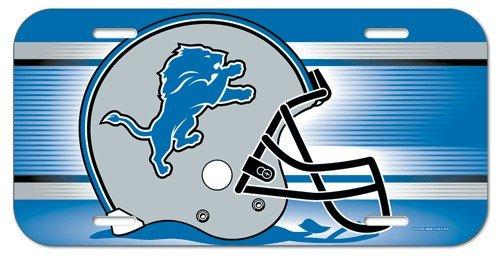 WinCraft NFL Detroit Lions License Plate, Team Color, One (Detroit Lions License Plate)