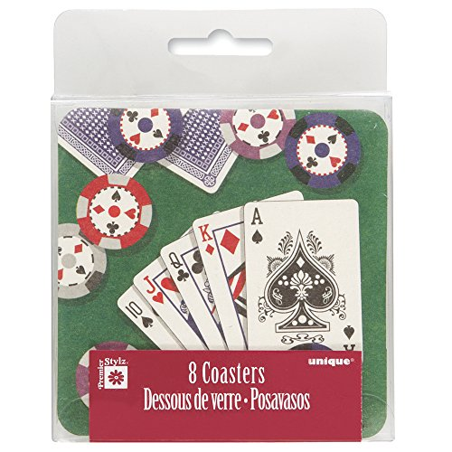Poker Hand Cardboard Coasters, -