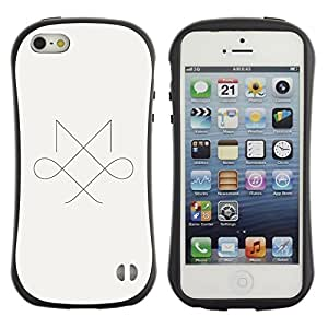 LASTONE PHONE CASE / Suave Silicona Caso Carcasa de Caucho Funda para Apple Iphone 5 / 5S / Symmetry mark