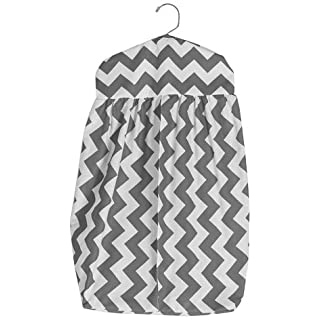 Baby Doll Bedding Chevron Diaper Stacker, Grey