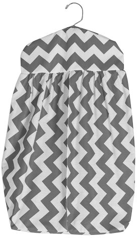 BabyDoll Chevron Diaper Stacker, Grey baby doll bedding 705ds