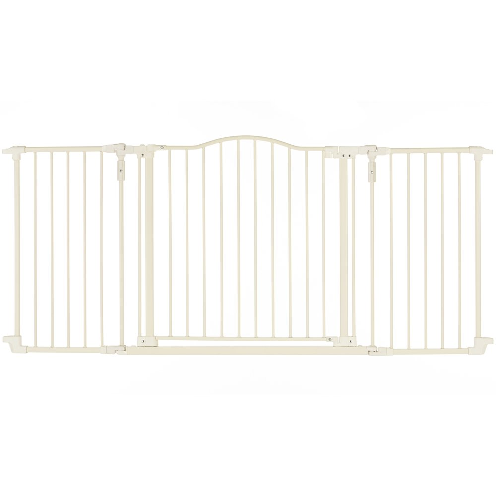 ''Deluxe Décor Gate, Soft white Collection'' by North States: Beautiful gate that provides safety and one-hand functionality. Hardware mount. Fits openings 38.3'' to 72'' (30'' tall, Soft white)