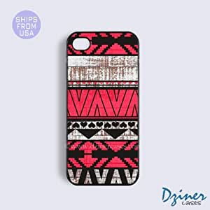 Ipod Touch 5 Case - Wood Print Red Aztec