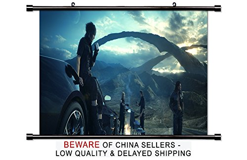 Final Fantasy XV Game Fabric Wall Scroll Poster  Inches