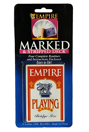 Loftus International Empire Magic Marked & Tapered Deck - Includes Instructions & Four Complete Routines by Loftus Novelty Item
