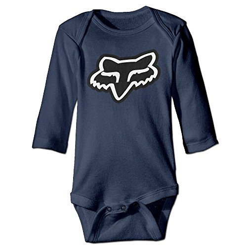 Fanre Fox Racing Logo Baby Boy Girls Infant Casual Romper Navy