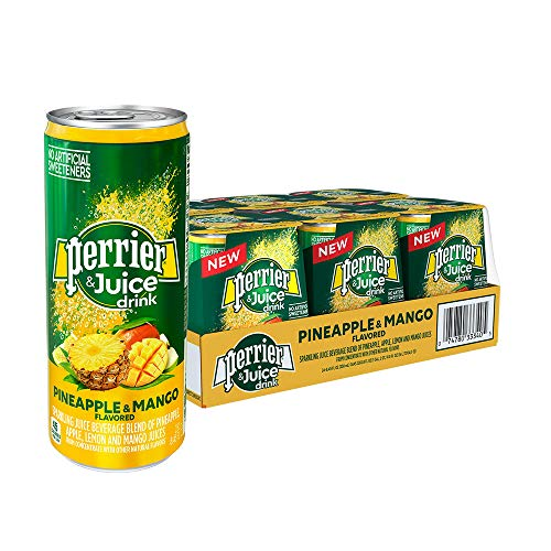 Perrier & Juice, Pineapple and Mango Flavor, 8.45 Fl Oz. Cans (24 Count) ()
