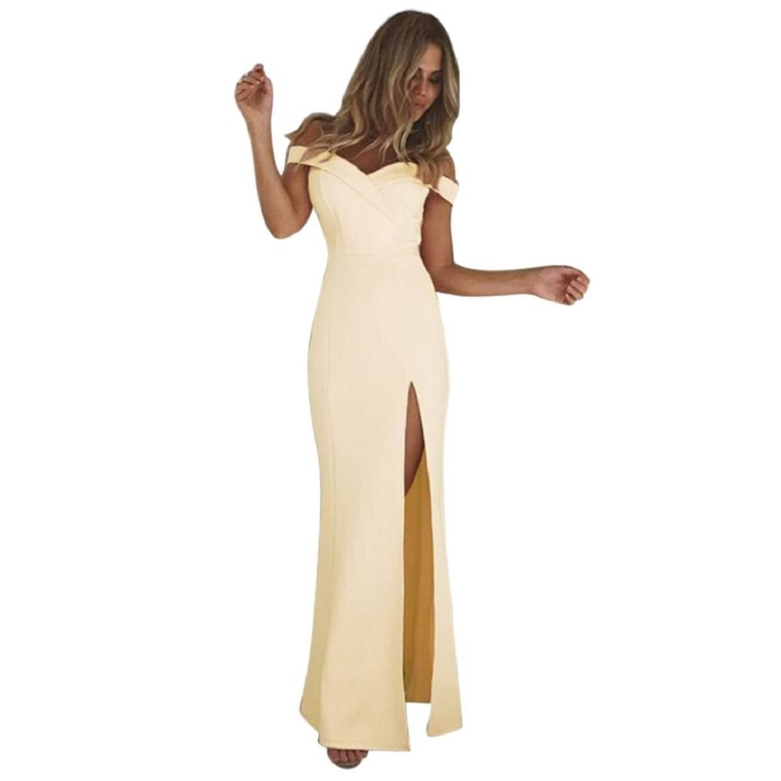 GONKOMA Women's Formal Prom Ball Gown Evening Party Bodycon Long Maxi Dress XWJ520