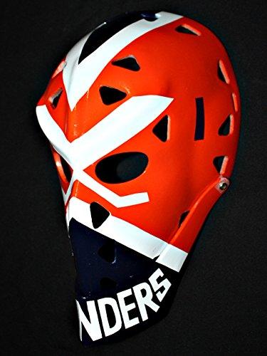 - 1:1 Custom Vintage Fiberglass Roller Ice Hockey Goalie Mask Helmet Billy Smith HO91