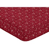 Sweet Jojo Designs Fitted Crib Sheet for Wild West Cowboy Baby/Toddler Bedding - Bandana Print