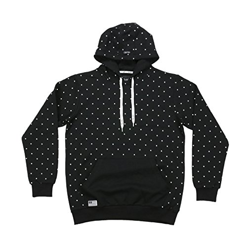 Primitive Dots Pullover Hoodie in Black Large