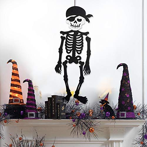 Party DIY Decorations - Hanging Skeleton Pirate Woven Shackles Props Hangings Home School Party Door Wall Decoration - Decorations Party Party Decorations Halloween Witch Broom Skeleton Wall Pe for $<!--$15.99-->