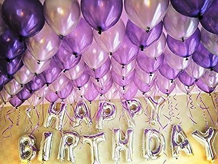 HorBous Paquete de 100 globos de decoración para fiestas de cumpleaños y globos de letras «