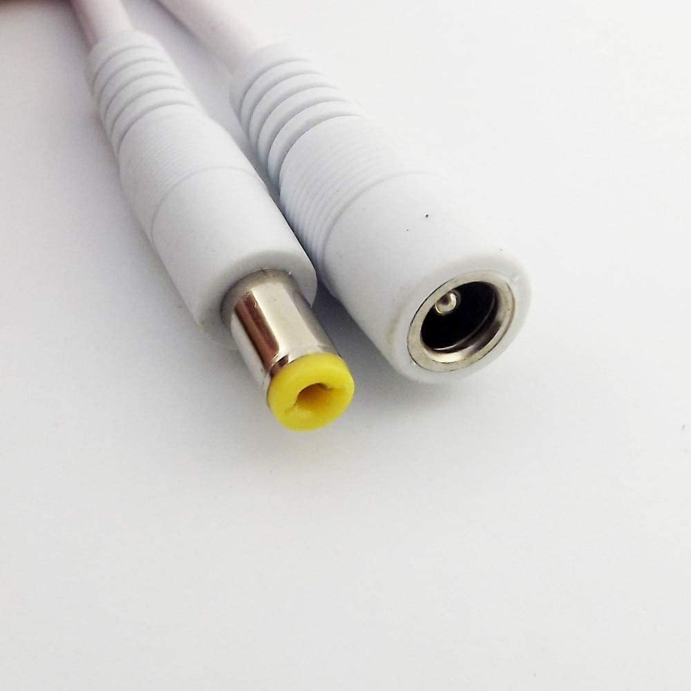 Connectors 1pcs DC Power CCTV 5.5mm x 2.1mm Female to Male Plug Adapter Extension Cable White 1m//1.5m3m//5m Cable Length: 3m, Color: White