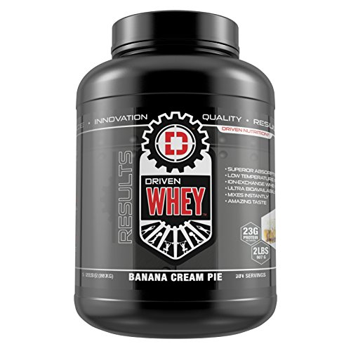 DRIVEN WHEY- Grass Fed Whey Protein: The superior tasting whey protein powder- recover faster, boost metabolism, promotes a healthier lifestyle (Banana Pie, 5 lb)